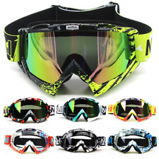 Motocross Goggles Motorcycle ATV Dirt Bike Adult Glasses Eyewear Clear Colored