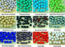40pcs Opaque Round Faceted Fire Polished Spacer Czech Glass Beads 6mm