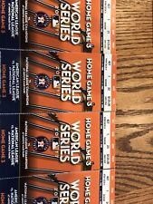 1-4 Houston Astros World Series Home Game 2 Tickets 2017 Minute Maid Sec 427 R 1