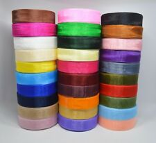 25 - 50 Yards Woven Edge Organza Ribbon - 7mm & 15mm - 30 Colours To Choose From