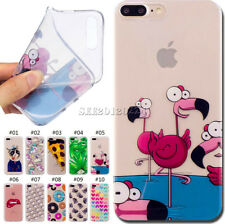 Silicone Rubber TPU Protective Soft Skin Back Case Cover For Apple iPhone 7 Plus