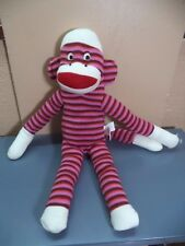 "Sock Monkey: Brand 14"" Purple or Dan Dee 11"" Multicolor or Schylling 9"" Pink VGC"