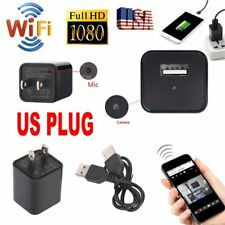 WIFI Full HD 1080P Mini Hidden Spy Camera Video Recorder DVR Adapter Charger US