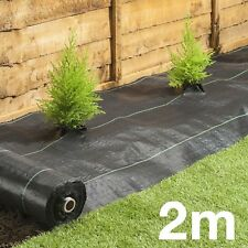 2M 100gsm Weed Control  Fabric Ground Cover Membrane Landscape Mulch Garden