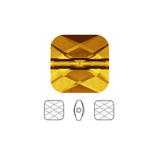 2 Swarovski Crystal Beads Faceted Mini Square 5053 8x8mm, 2 Beads 5053 8x8mm