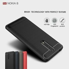 Brushed TPU Carbon Fiber Texture Rubber Gel Soft Case Cover For Nokia 8/6/5/3