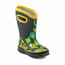 Bogs Kid's Classic Monsters Kids' Insulated Boots Dark Gray Multi 72152-074