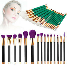 15Pcs Pro Makeup Brushes Foundation Eyeshadow Cosmetics Make Up Brush Set Tools