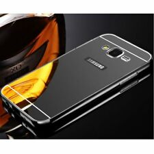Aluminum Metal Mirror Phone Case + PC Back Cover For Samsung Galaxy S6 S7 Edge