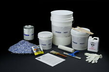 GARAGE FLOOR EPOXY PAINT KIT 100% SOLIDS W/ TOPCOAT 600 SQ FT