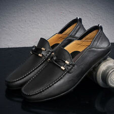 Men's Driving Shoes Leather Fashion Slipper Casual Slip On Loafers Shoes