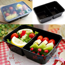 Food Plastic Storage Lunch Meal Prep Containers Box Reusable Microwavable 22 oz