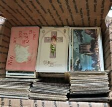 Large Mixed Lot  Of 1000+ Antique Pre-Linen And Linen And Vintage Postcards