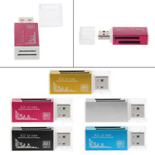 All-In-One USB 2.0 Multi Memory Card Reader Aluminium For SD/SDHC MMC TF MS M2