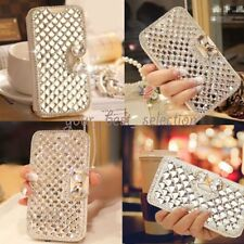Luxury Crystal Diamond Leather Wallet Stand Flip Case Cover for iPhone 8 8 Plus