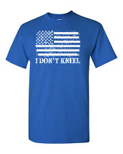 I Don't Kneel American Flag Patriotic Men's Tee Shirt 1687