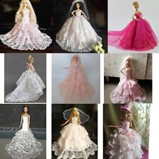 Royalty Princess Dress Clothes Gown For Barbie Doll + veil Hat Evening Dress Acc
