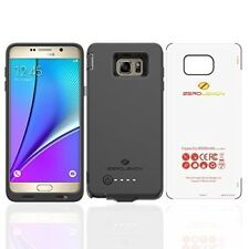 Samsung Galaxy Note 5 Battery Case Cover 8500mAh Soft Tpu External Charger Black