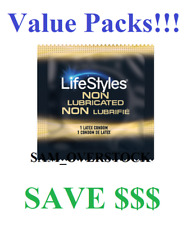 Lifestyles ULTRA SENSITIVE Non-Lubricated Condoms Latex Condom, Value packs!