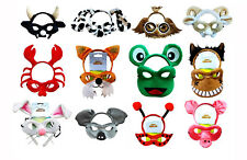 Farm Animal Headband & Mask Costume Set Bull  Horse Koala Owl Pig Rabbit Sheep D