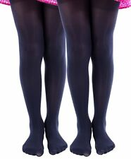 2 Pairs of Mod & Tone Girls Opaque Tights, Opaque Kids Pantyhose