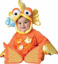 Giggly Goldfish Toddler Costume Jumpsuit hood and booties