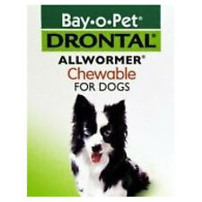 New Drontal Allwormer Chewables For Dogs (One Chewable) Pet