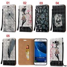 Skull Wallet Leather Flip Case Cover For Samsung Note 8 9 S4 S5 S6 S7 S8 S9 Plus