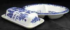 Churchill WILLOW Divided Oval Vegetable Bowl + Butter Dish VERY GOOD CONDITION