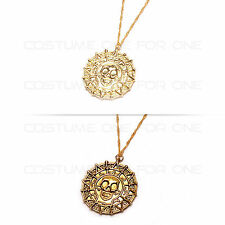 Hot Pirates of the Caribbean Gold Coin Aztec Pendant Necklace Cosplay