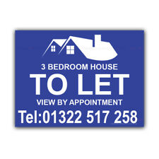 House Bedroom To Let Correx Sign Boards Estate Agent Signs X 2 (CORCP00045)