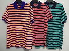 Polo Ralph Laure Golf Performance Horizontal-Stripe Pique Polo Shirt M L XL 2XL