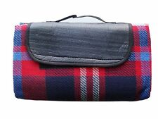 OCTAVE® Tartan Picnic Rug Great Outdoor Folding Blanket With Waterproof Backing