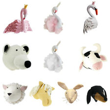 Fluffy Animal Head Toy Kids Room Wall Doll Hanging Sculpture Party Photo Props