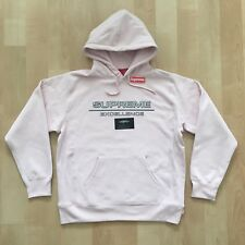 "SUPREME FW17 REFLECTIVE EXCELLENCE HOODED SWEATSHIRT HOODIE ""PALE PINK"" SIZE L"
