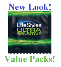LIFESTYLES ULTRA SENSITIVE CONDOMS LATEX LUBRICATED CONDOM Value Packs! Save $$