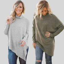Women Casual Long Sleeve Knitted Pullover Loose Sweater Jumper Top Knitwear E4I6