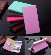 Genuine Leather Skin Flip Stand Case Phone Cover For Huawei Ascend P7
