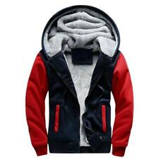 Mens Fleece Jacket Mountain Sweater Warmer Thick Autumn Winter with Hoodie