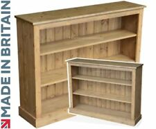 Contemporary Solid Pine 3ft x 4ft Adjustable Display Bookcase, Bookshelves
