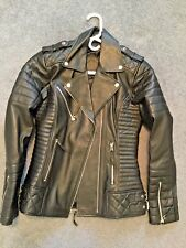 Womens Genuine Lambskin Motorcycle Real Leather Jacket Slim fit Biker Jacket #61