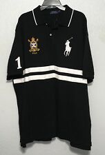 POLO RALPH LAUREN classic fit BIG PONY crest mesh shirt Black BIG & TALL
