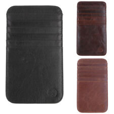 Men's Money Clip Slim Wallet ID Credit Travel Card Holder Case - 12 Slots