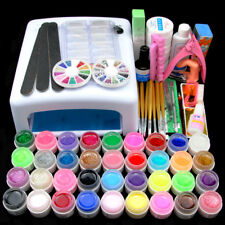 36pc UV Gel Polishes Nail Art Kit Timer 36W Nail Dryer Lamp for Manicure Topcoat