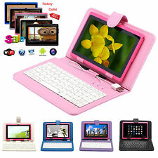 """7"""" inch Android 4.4 Quad Core Tablet PC 8GB Camera WIFI Bluetooth With Keyboard"""