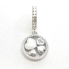 Genuine Authentic S925 Sterling Silver Hearts of Love Pendant Charm