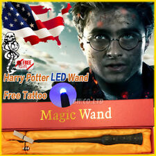 "Wizard Harry Potter Cosplay 13.4"" Magic Wand LED Wand Deathly Tattoo Gift In Box"
