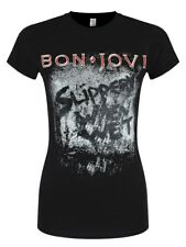 Bon Jovi Slippery When Wet Album Women's Black T-shirt