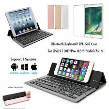 Foldable Bluetooth Keyboard Stand Holder&Case For iPad 9.7 2017 Air 2/1 Mini Pro