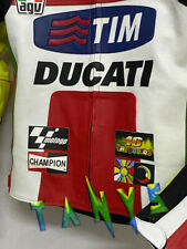 BRAND NEW DUCATI MOTORCYCLE MOTOGP MOTORBIKE RACING LEATHER REPLICA JACKET